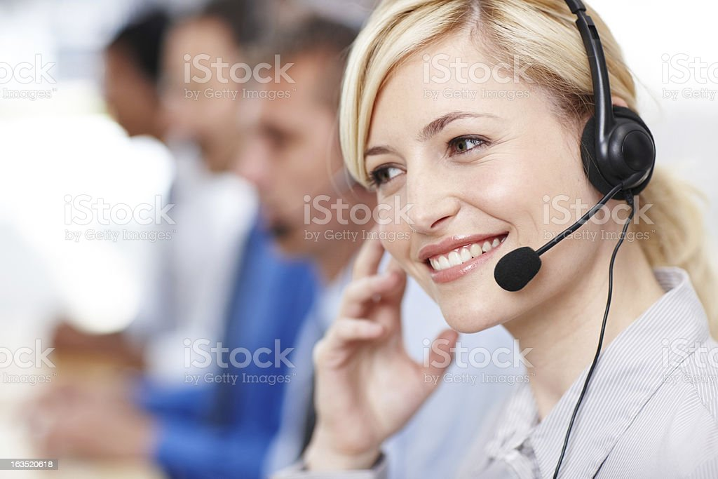 We're always ready to listen royalty-free stock photo