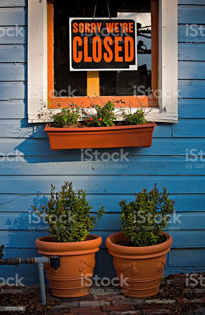 we're closed royalty-free stock photo