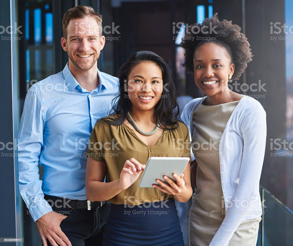 We're committed to a paperless office stock photo