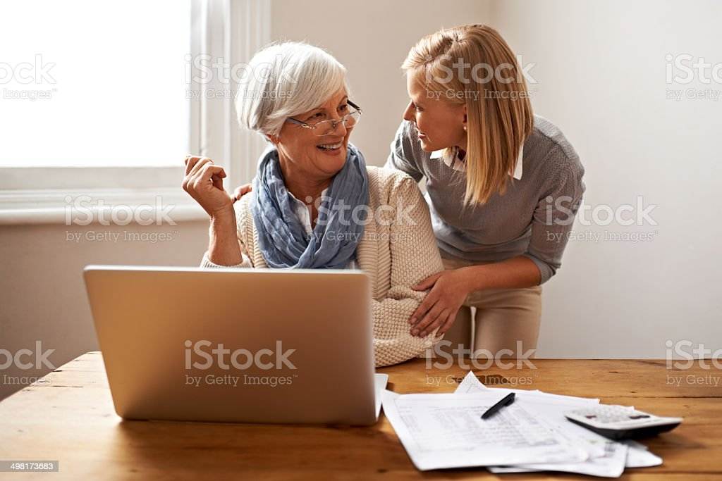 We're done and you're firmly in the black stock photo