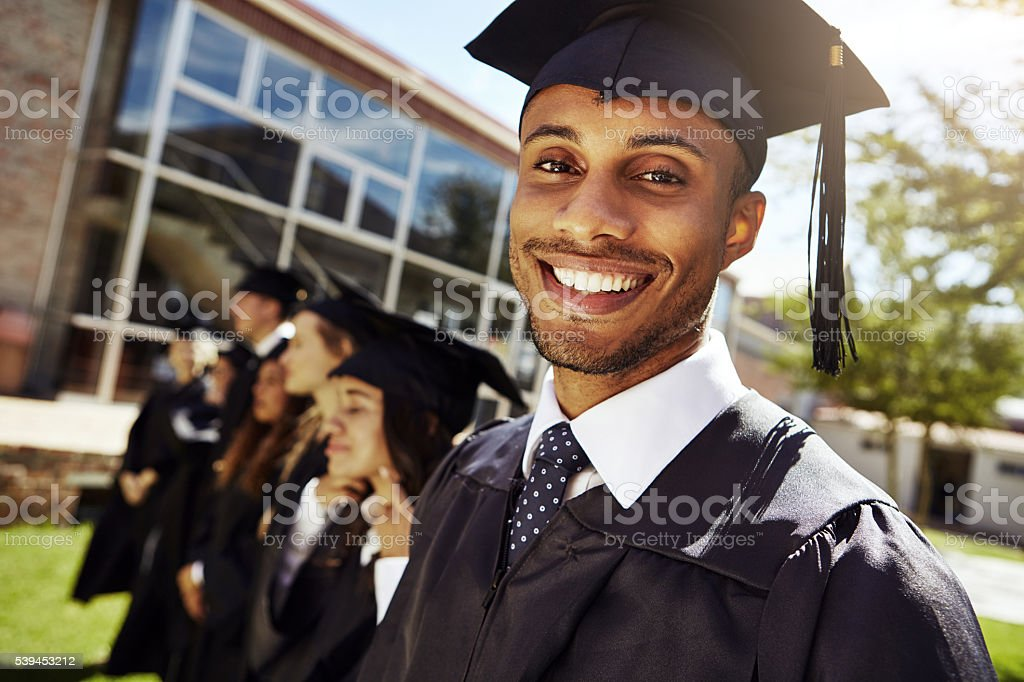We're educated and ready to go! stock photo