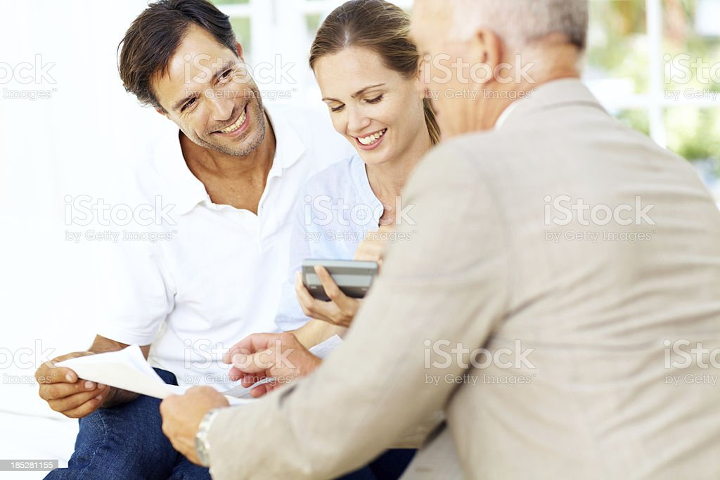 We're excited by our financial prospects royalty-free stock photo