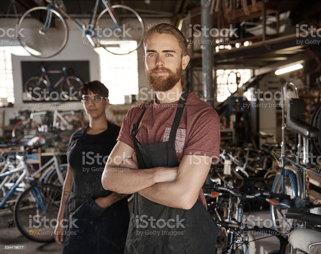We're focused on quality workmanship stock photo