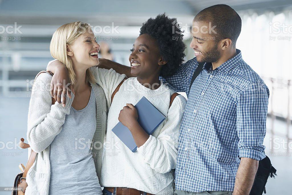We're going to ace our finals together! stock photo