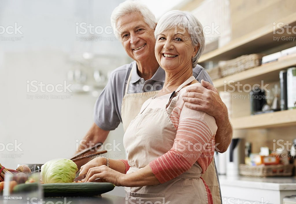 We're growing old together but our love stays new stock photo
