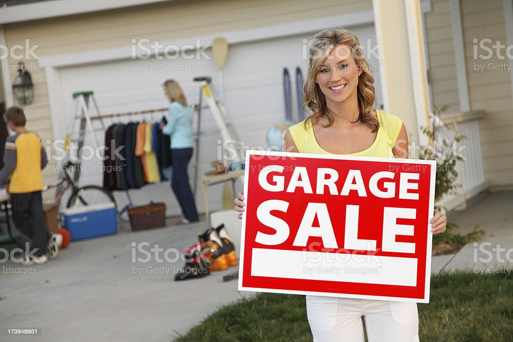We're Having A Garage Sale royalty-free stock photo