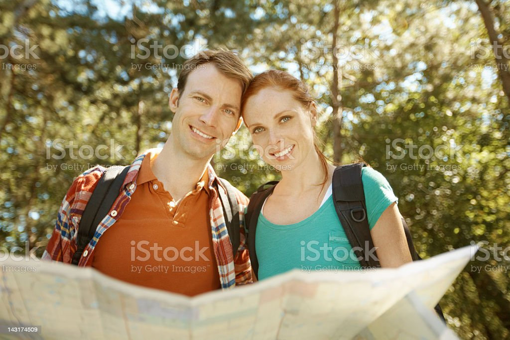 We're heading the right way! royalty-free stock photo