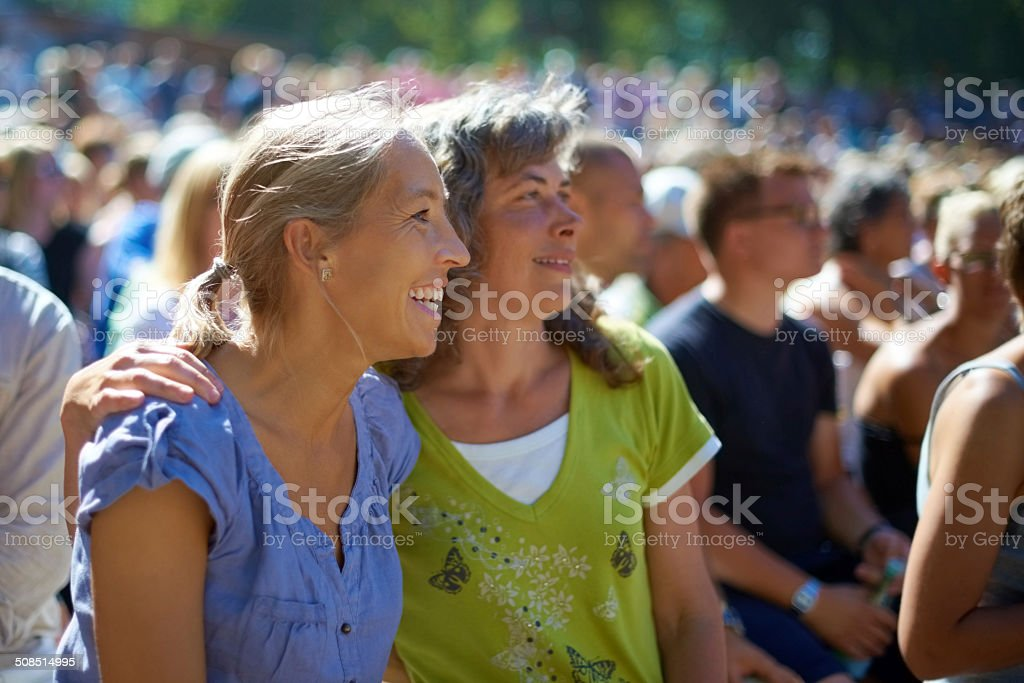 We're here for a good time! stock photo