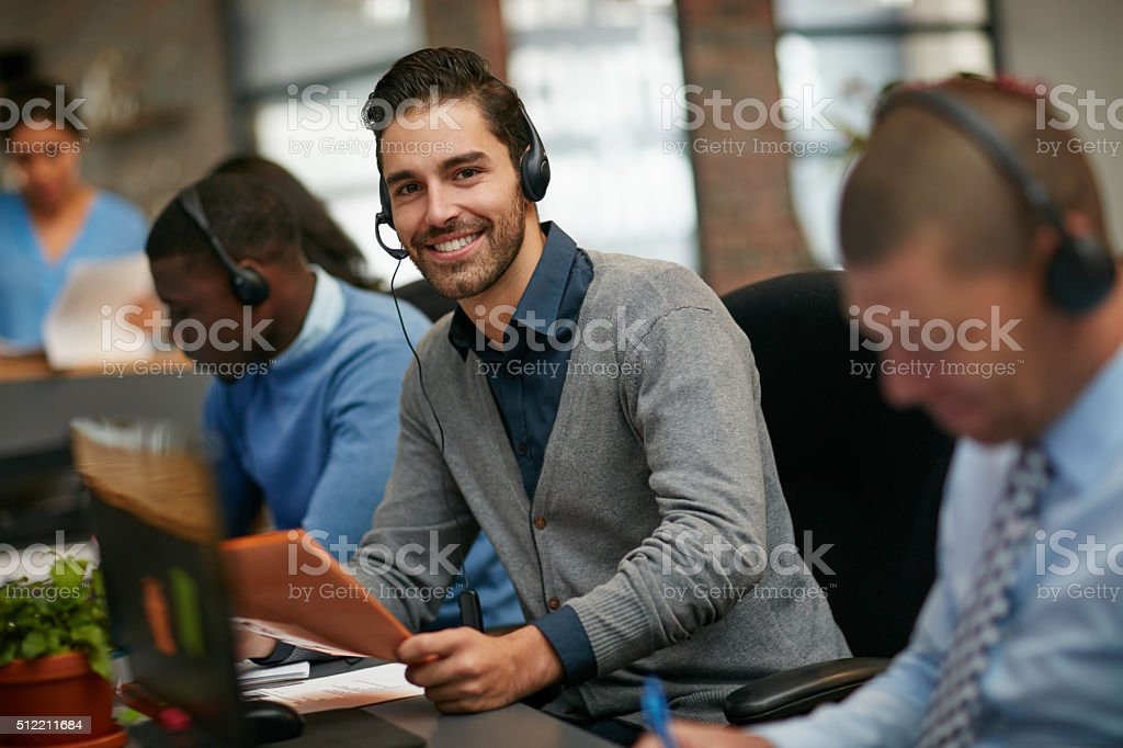 We're here to help stock photo