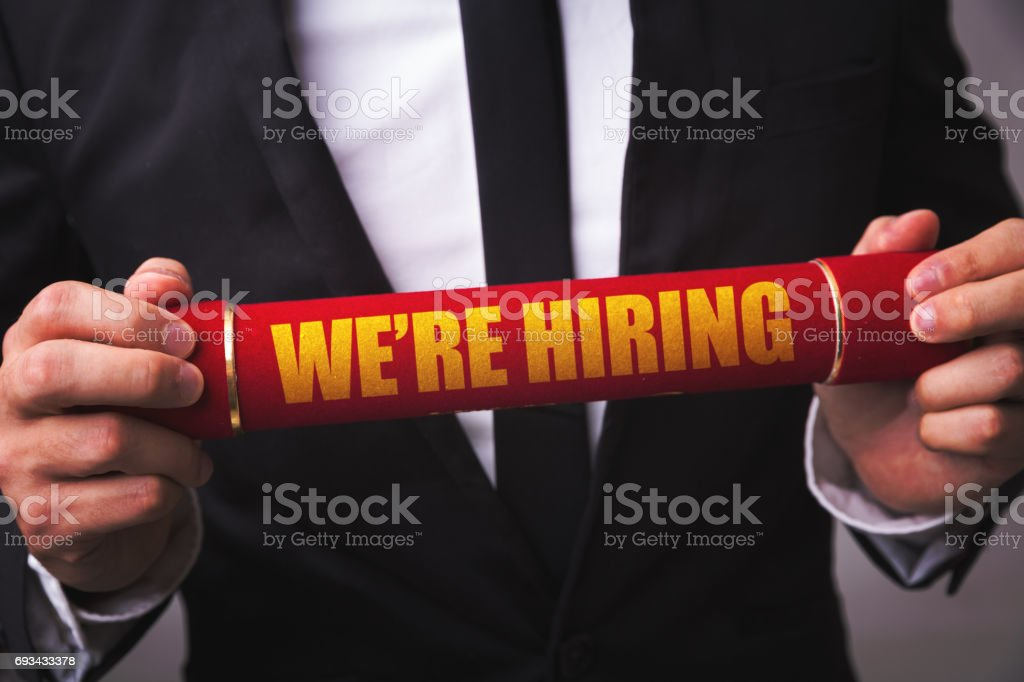 We're Hiring stock photo