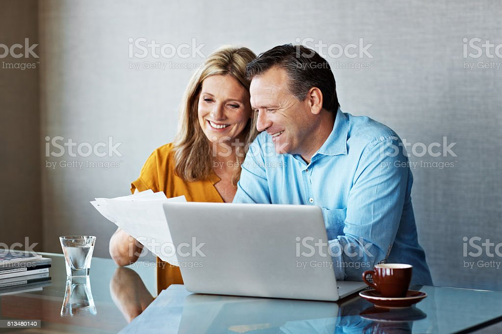 We're in great financial shape stock photo