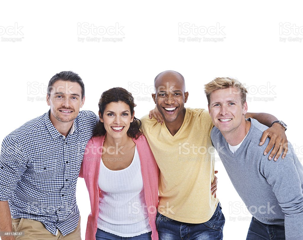 We're in it together! stock photo