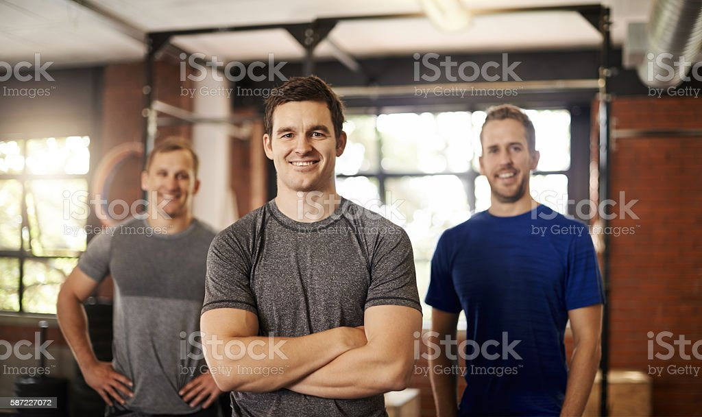 We're in this for the fitness stock photo