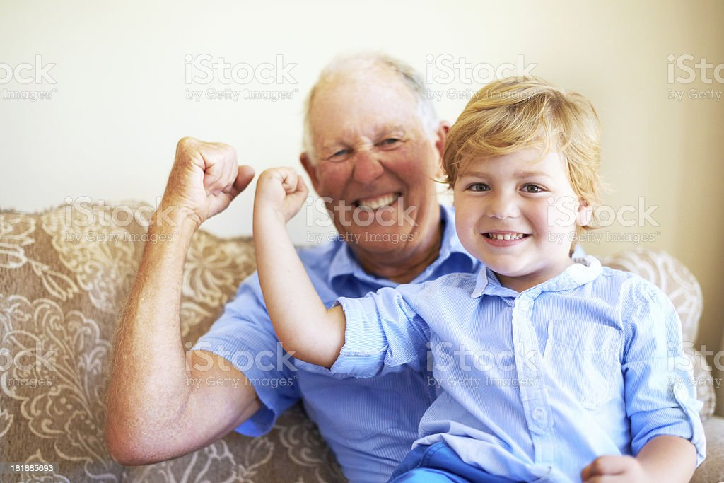 We're muscle champions stock photo