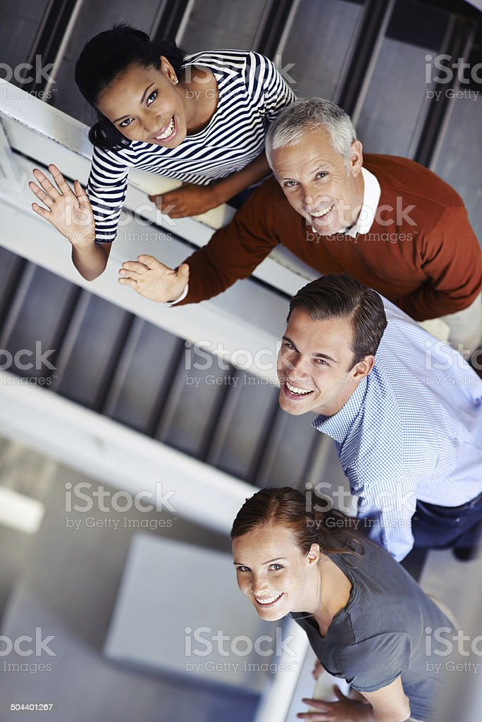 We're on our way to the top stock photo