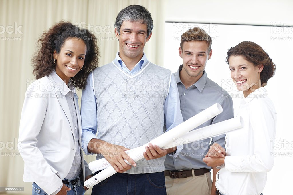 We're proud of our work! royalty-free stock photo