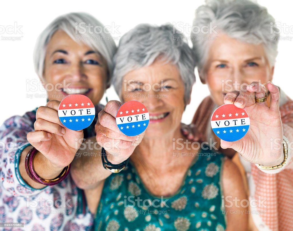 We're registered voters! stock photo