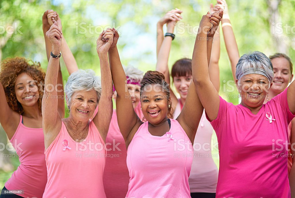 We're survivors! stock photo
