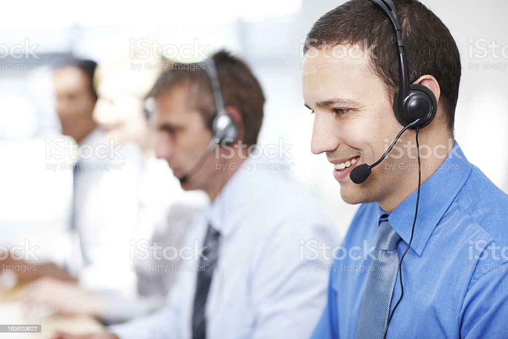 We're waiting for your call royalty-free stock photo