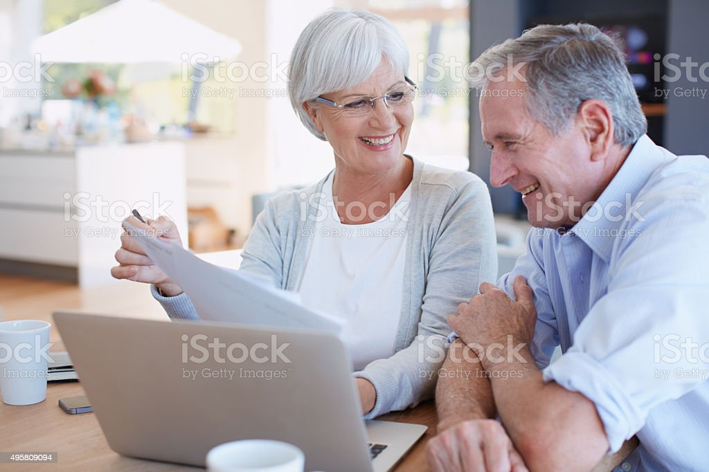 We're well within our budget this month stock photo