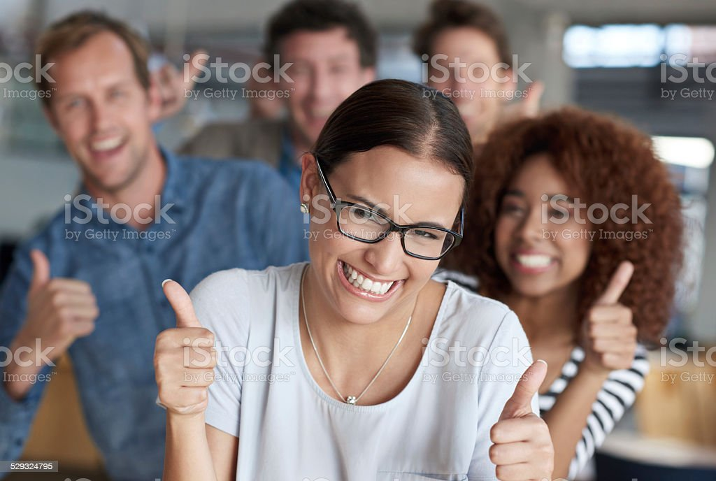 We're winning all the way stock photo