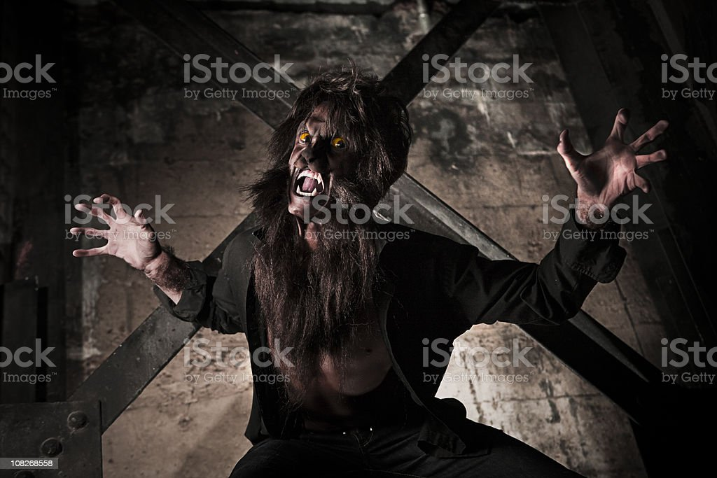 Werewolf Attack stock photo