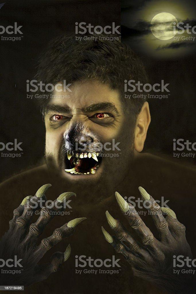 Werewolf stock photo