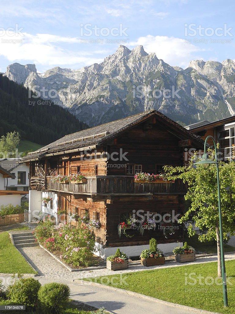 Werfenweng, a village in Austria stock photo