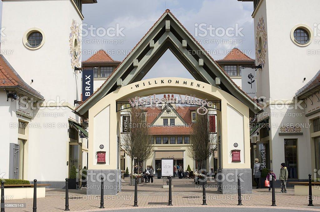 'Wertheim Village, Factory Outlet Center, Germany.' stock photo
