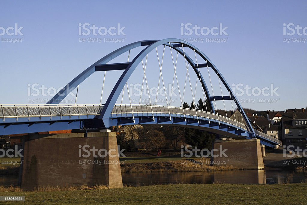 Weser bridge between Daspe and Hehlen stock photo