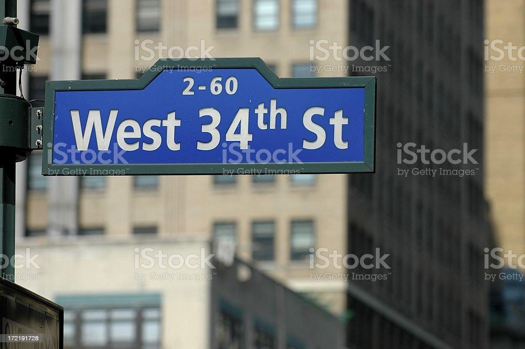 West 34th Street, Manhattan royalty-free stock photo