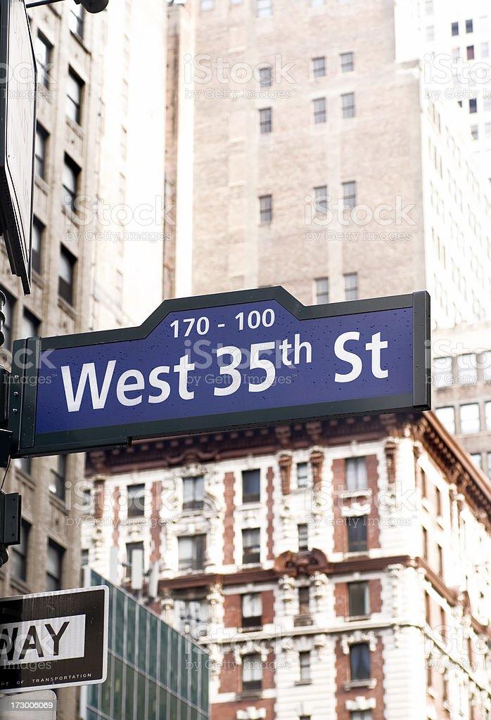 West 35th street stock photo