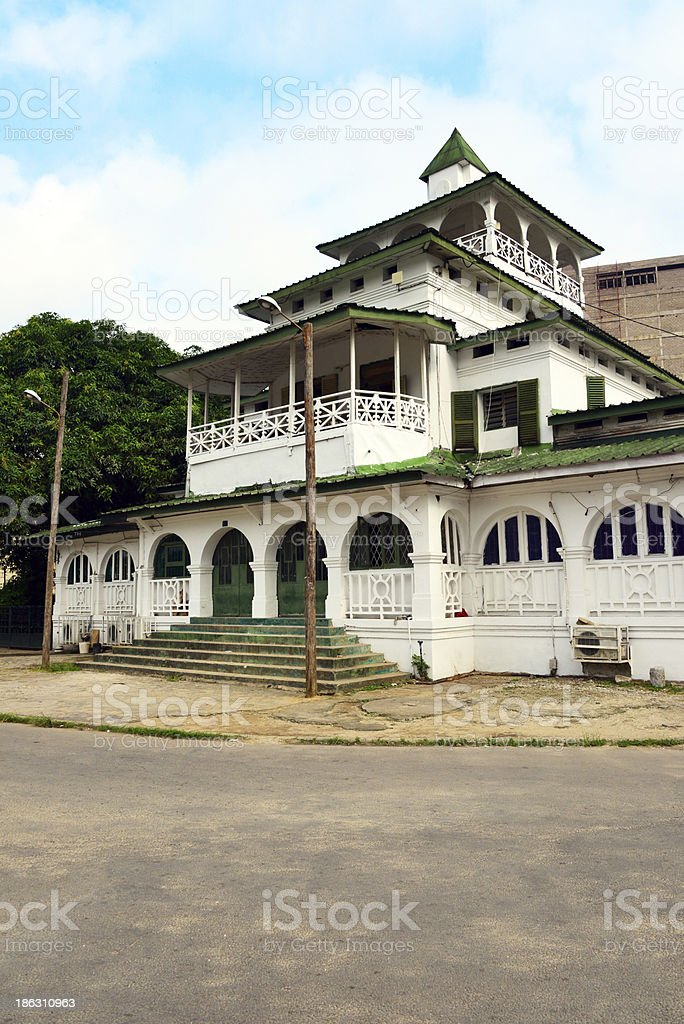 West Africa, Cameroon, Douala: the Pagoda, Kings Bell Palace stock photo