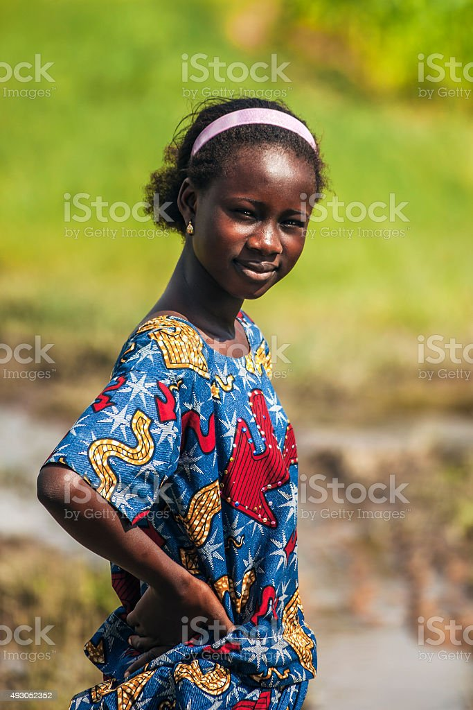 West African girl. stock photo