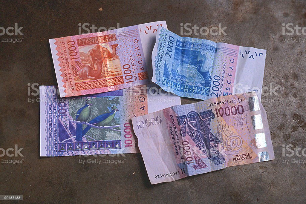 west african money CFA stock photo