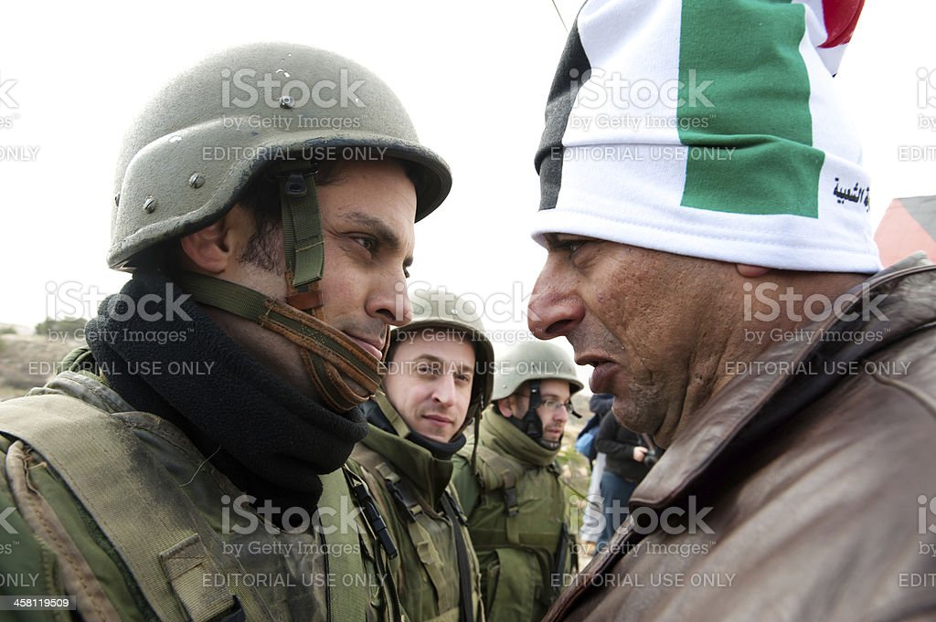 West Bank Anti-Wall Demonstration royalty-free stock photo