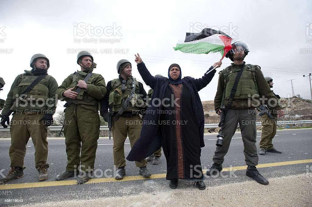 West Bank Anti-Wall Demonstration stock photo