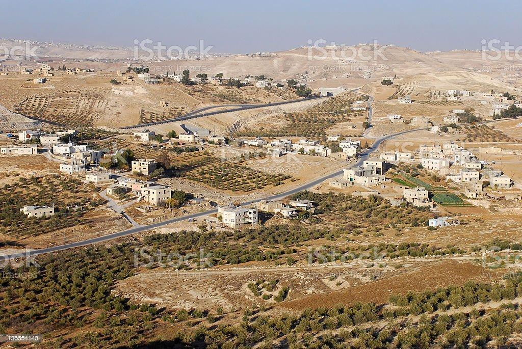 West Bank Landscape stock photo