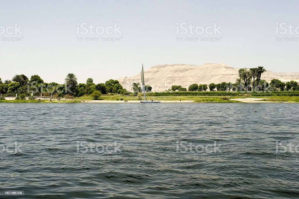 West Bank of the Nile stock photo