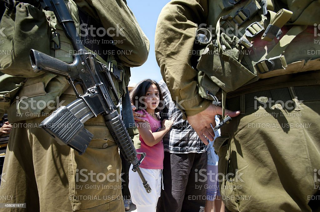West Bank Protest stock photo