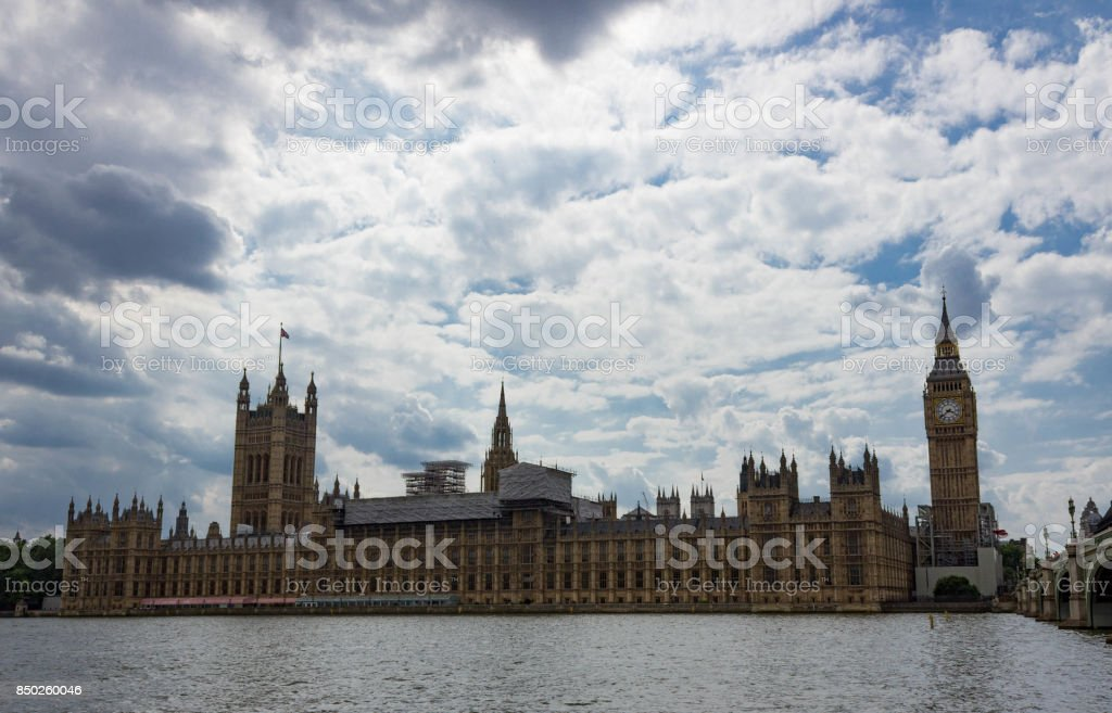 West Bank View of the Houses of Parliament and Big stock photo