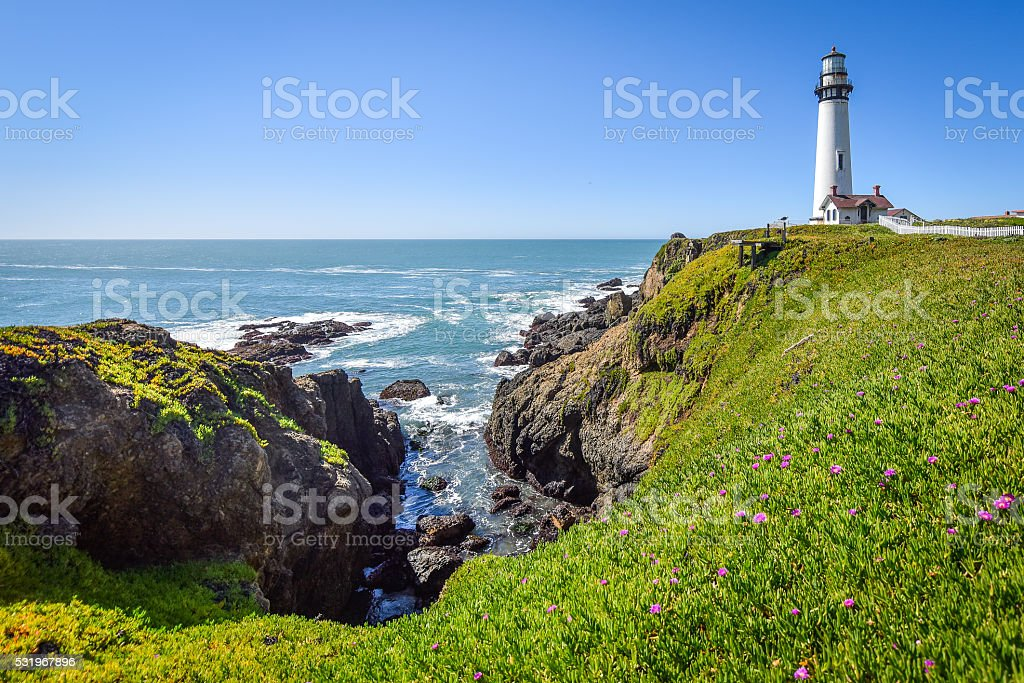 West Coast Lighthouse royalty-free stock photo