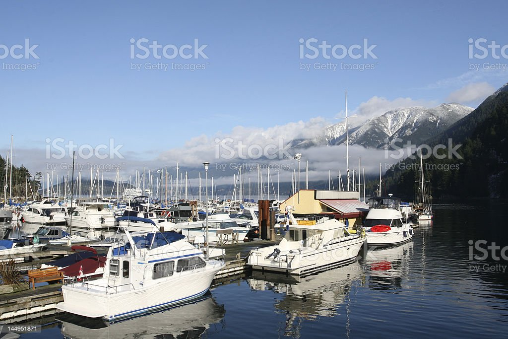 West Coast Marina stock photo