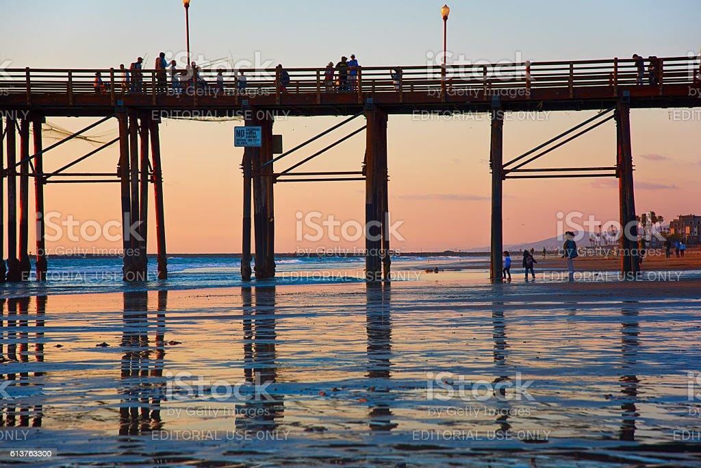 West Coast Pier at Dusk stock photo