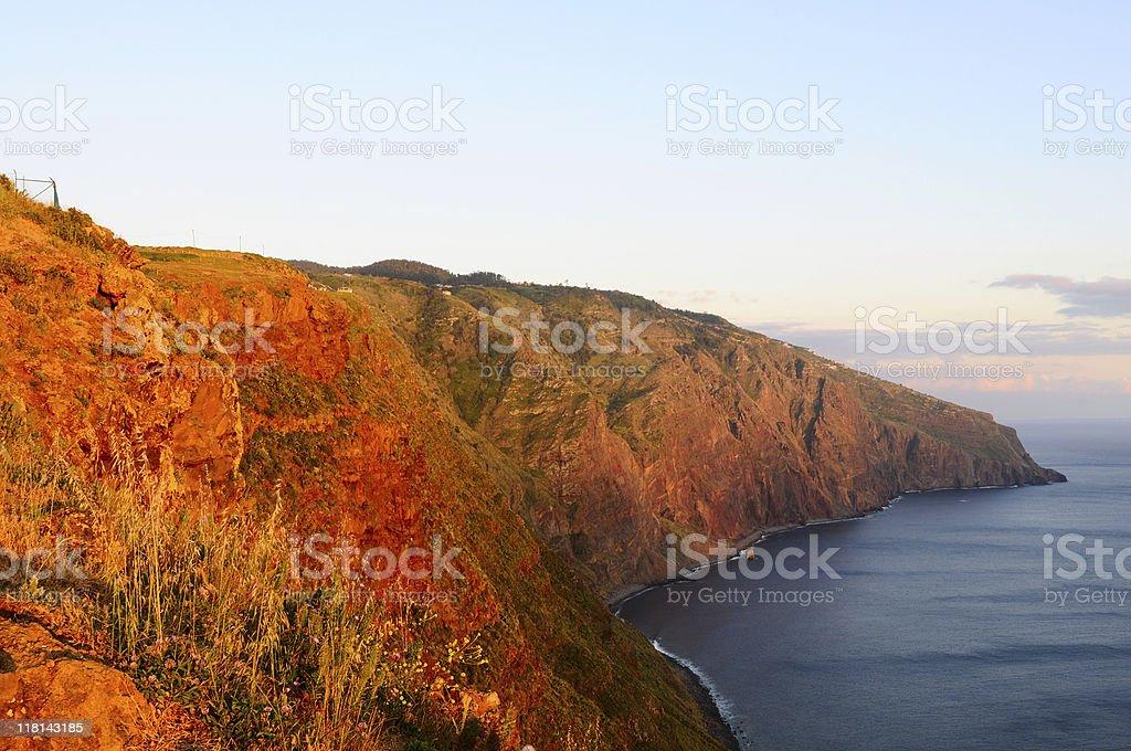 West Coast Ponta do Pargo Madeira Sunset royalty-free stock photo
