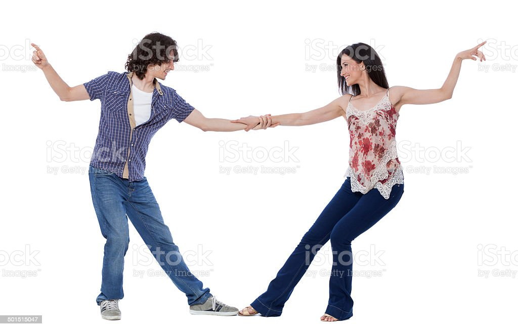West Coast Swing Dance stock photo