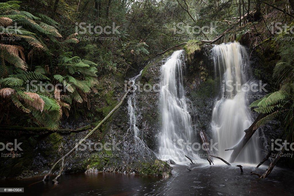 West Coast Waterfall stock photo