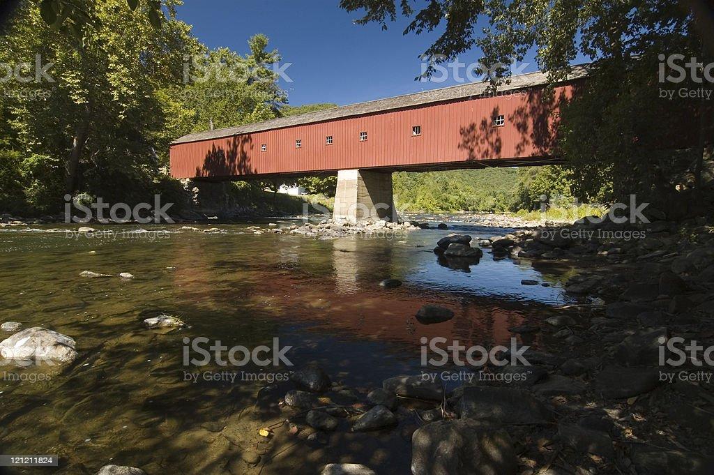 West Cornwall Covered Bridge royalty-free stock photo