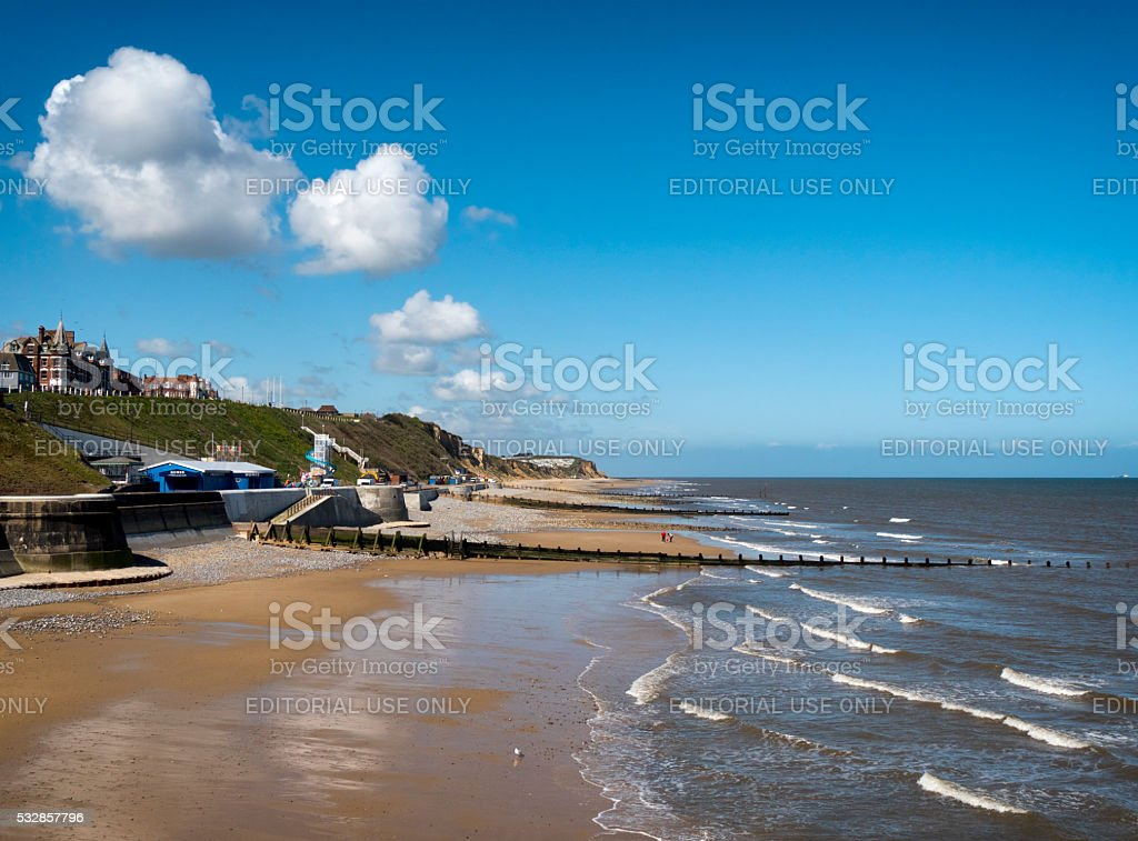 West Cromer from the Pier stock photo