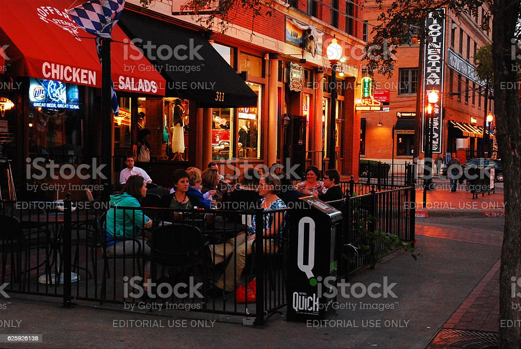 West End Dining stock photo